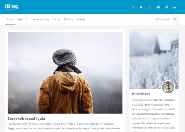 iBlog - Responsive Theme - Free Tumblr Theme