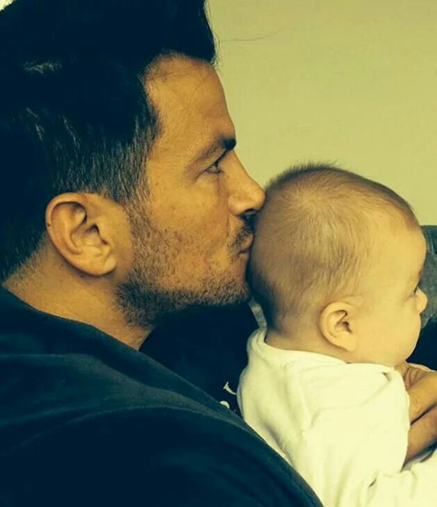 Peter Andre and baby Amelia