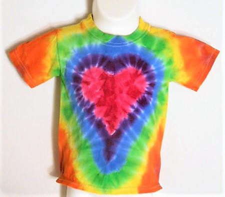Kids Tie Dye Shirt - 2T 3T - Rainbow Tie Dye - Tie Dye Heart Shirt - Hippy Kid - Gift for Girls - Christmas or Hanukkah present -   KT by FarmFreshTieDyeStore on Etsy