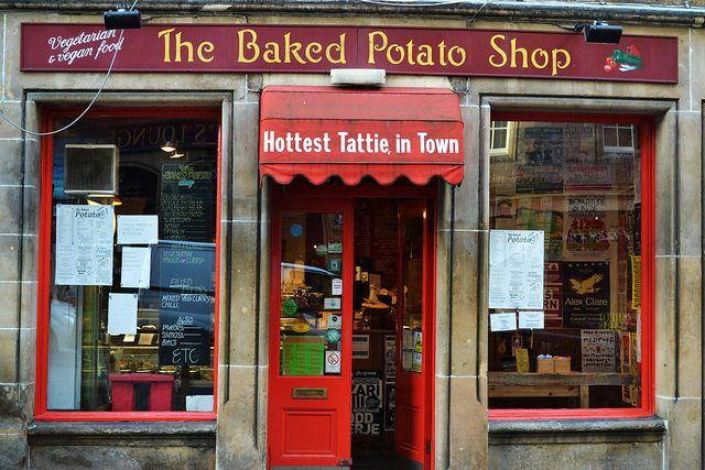 Edinburgh, Scotland~The Baked Potato Shop by lisannemb, via Flickr