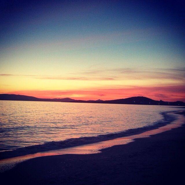 Agia Anna beach today... Amazing sunset!!!