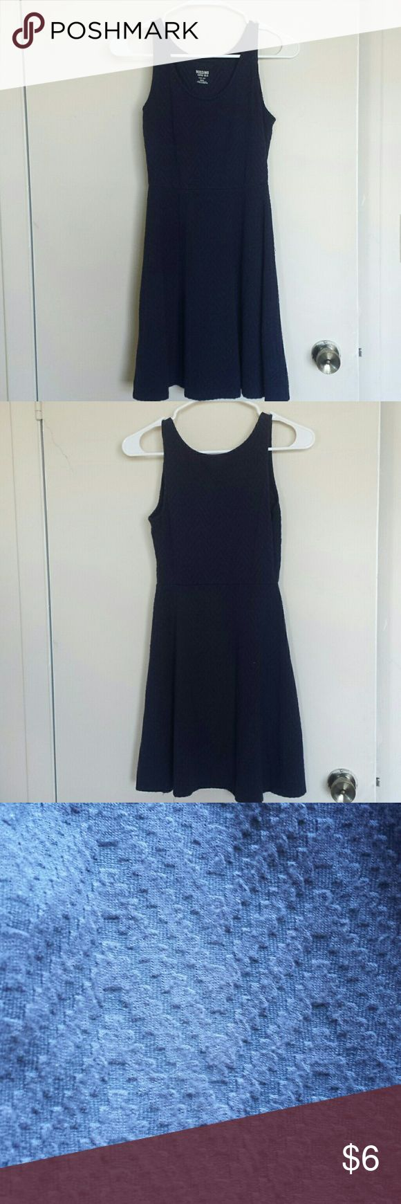 Navy Skater Dress Mossimo Textured Navy Skater Dress. Size X-Small. No stains, holes, or tears. Excellent condition. Mossimo Supply Co Dresses