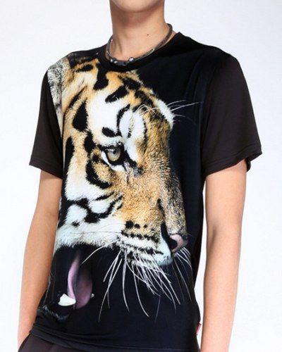 1e6e612f7fd9 3D tiger t shirt for men digital printing animal tee black