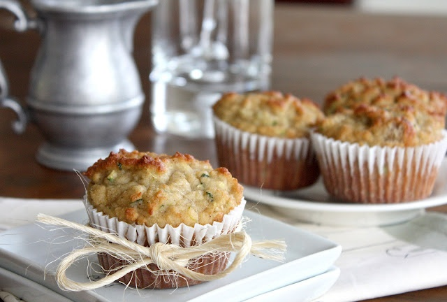 Almond Flour Zucchini Muffins, they already looked good but they're also gluten free!  Good healthy breakfast treat.