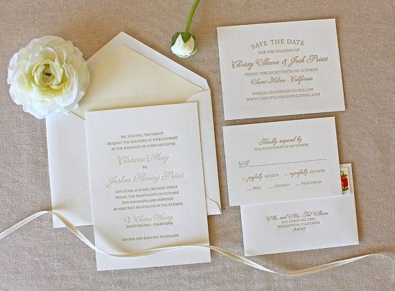 Bello Letterpress Wedding Invitation sample  by chathamandcaron, $1,100 invitation, Return Addresses, RSVP
