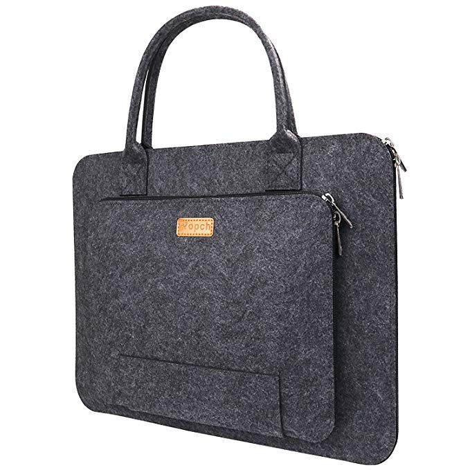Amazon Com Ropch 17 17 3 Inch Laptop Bag Felt Laptop Sleeve Notebook Computer Case Carrying Bag Pouch With Handle Compatib 17 Inch Laptop Bag Laptop Bag Bags
