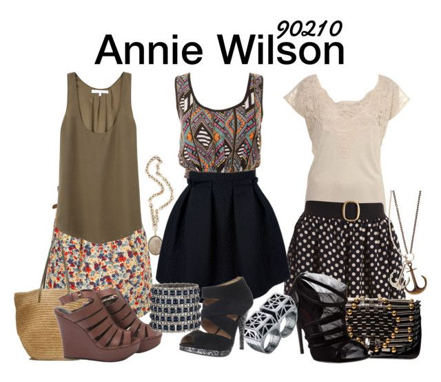 Annie Wilson 90210 by sparkle1277 on Polyvore featuring polyvore, mode, style, Apiece Apart, Miss Selfridge, Lanvin, Miss Brown, Elizabeth and James, Dolce&Gabbana, Temperley London, J.Crew, Ingenious Jewellery, LowLuv, Olivia Collings Antique Jewelry, Madison Harding, fashion and clothing