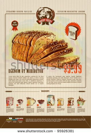 stock vector : Bakery Advertisement Design Template