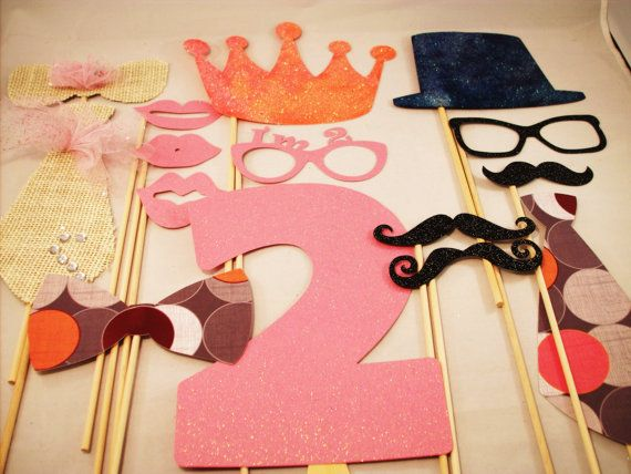 Mustache and Tutu Birthday Party Photo Props by IttyBittyWedding, $34.95