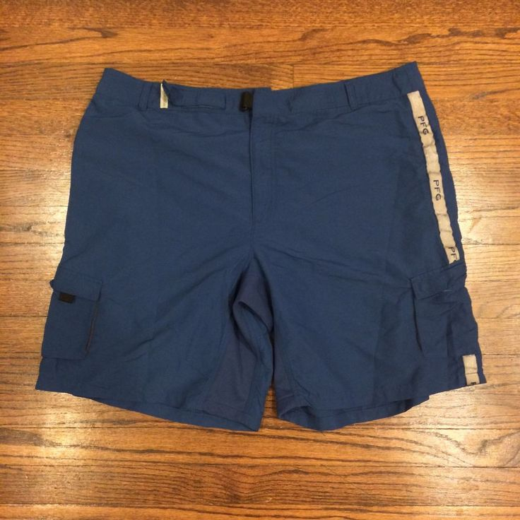 sold columbia pfg navy blue cargo fishing board shorts