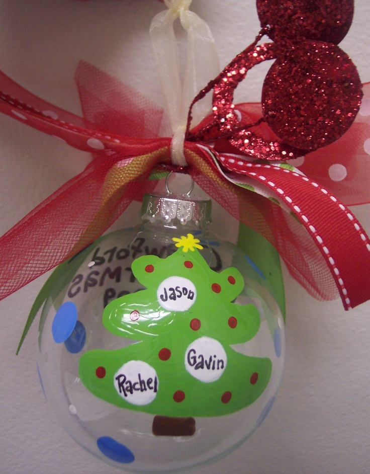Handpainted Personalized Family Ornament.