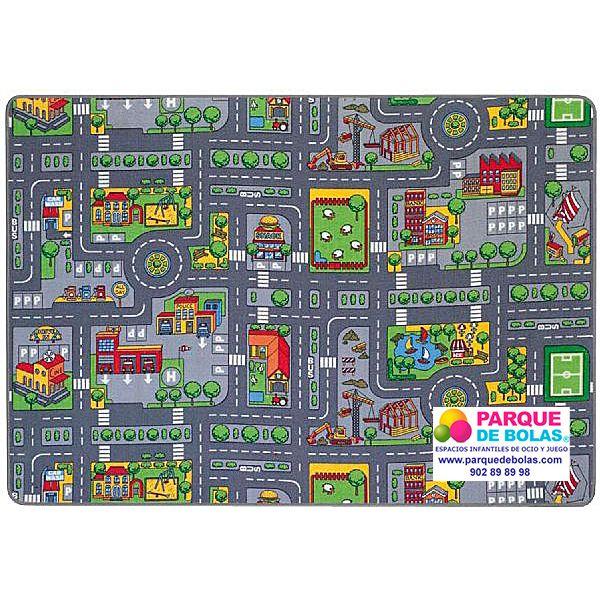#Alfombra de #trafico para #coches grandes. Las calles están totalmente decoradas. #Actividades #Infantil #juguetes #juegos http://www.parquedebolas.com