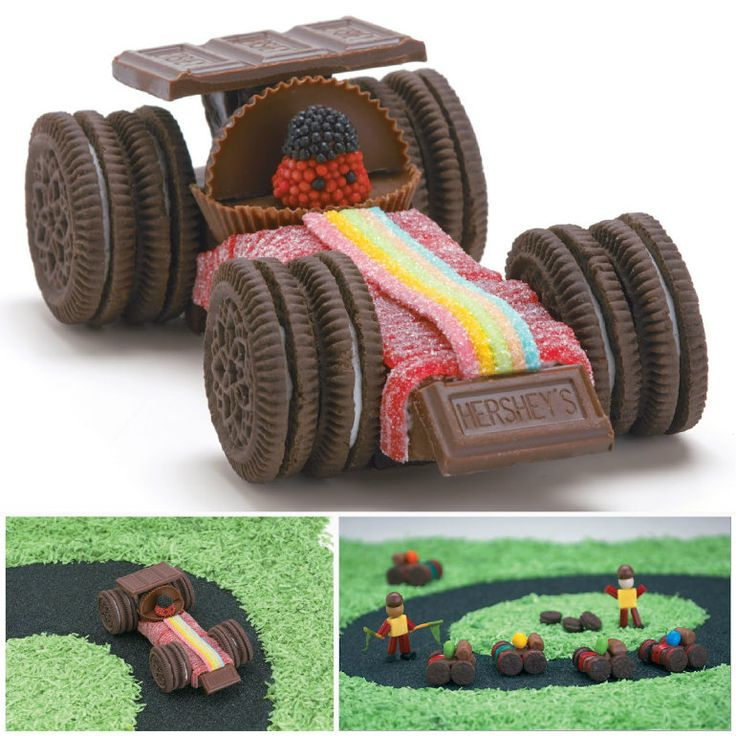 Hersheys Formula 1 Candy Car! I probably would never get around to making it, but it's a fun idea! Maybe a craft project for Noah in a couple years.