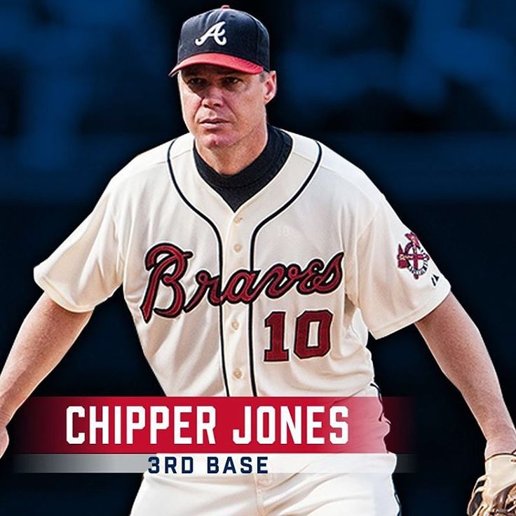 Playing 3rd base for the #AllTFTeam, Chipper Jones!
