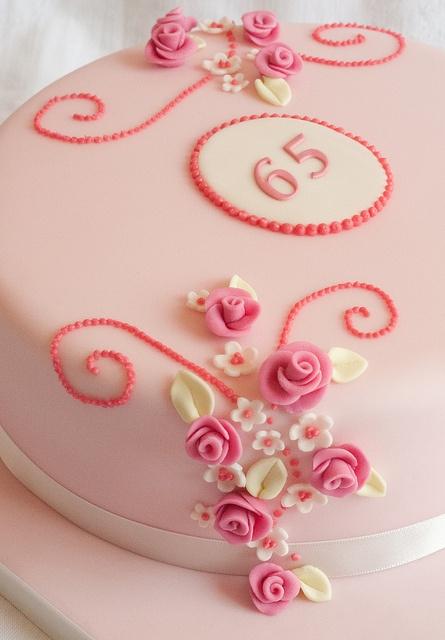 {Elegant cake for ladies.