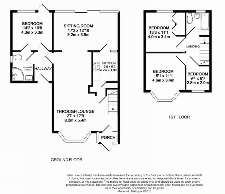 Floor plan floor plan pinterest semi detached for Semi detached house plans