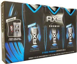 Axe Phoenix 3 Pack Shower Gel And 2 Bonus Mini Gels Case Pack 2 Axe Phoenix 3 Pack Shower Gel And 2 by DDI. $61.50. Picture may wrongfully represent. Please read title and description thoroughly.. Please refer to SKU# ATR25378786 when you inquire.. Brand Name: DDI Mfg#: 1193085. This product may be prohibited inbound shipment to your destination.. Shipping Weight: 4.00 lbs. Axe Phoenix 3 Pack Shower Gel And 2 Bonus Mini Gels. Axe shower gel made especially for guys which combin...