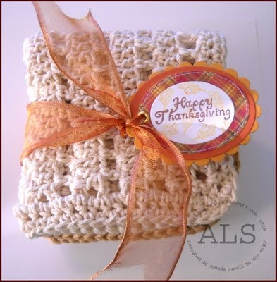 Happy Thanksgiving Crochet Dish Cloth Gift (for Skipping Stones Design): Crochet Dishes, Crochet Dishcloth Rugs, Dishcloth Packaging, Crochet Kitchens Bath, Gifts Ideas, Dishes Clothing, Clothing Gifts, Hostess Gifts, Fun Gifts