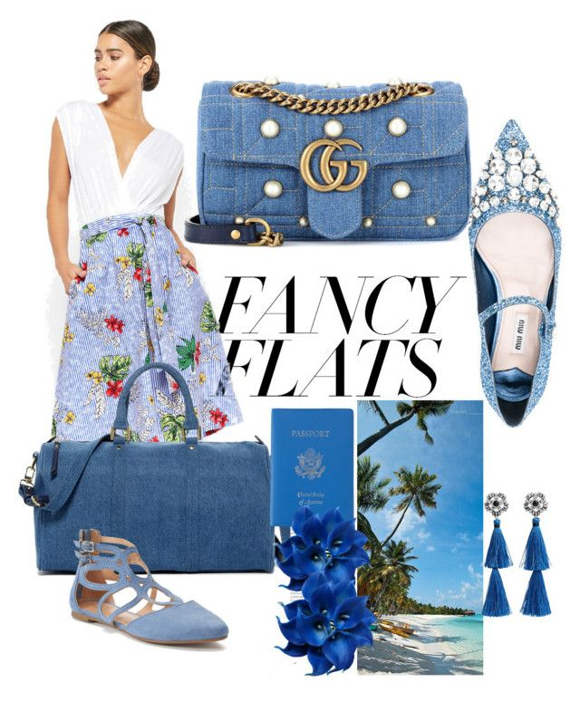 VACATION by queenjeanette on Polyvore featuring polyvore fashion style Forever 21 Miu Miu LC Lauren Conrad Gucci Urban Expressions Royce Leather MANGO clothing chicflats