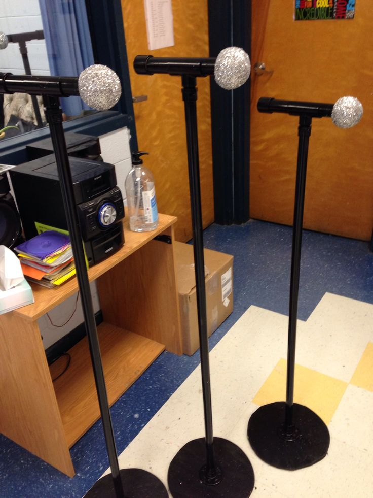 DIY microphone and microphone stand