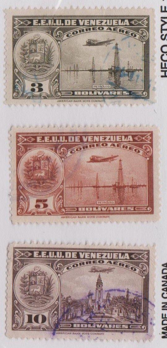 EE.UU DE VENEZUELA - CORREO AEREO 1938