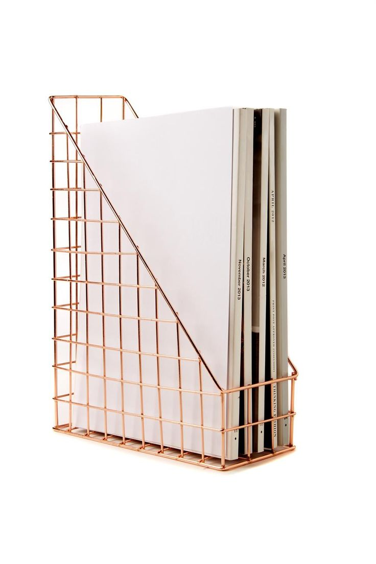 Need a desk makeover? Then this wire storage is perfect for every perfectly styled desk or office space! Made from metal, this storage is perfect for holding your folders or those fashion magazines laying around. Match back with our pen holder