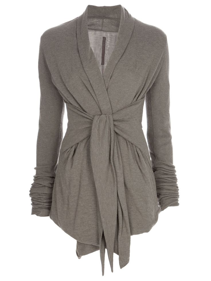 Rick Owens Lilies Wrap Cardigan in Gray (green)