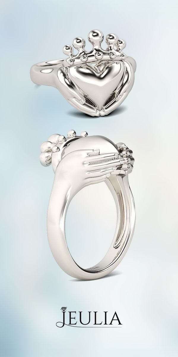 Fabuleux 46 best Claddagh Rings images on Pinterest | Claddagh rings, Jewel  IV65