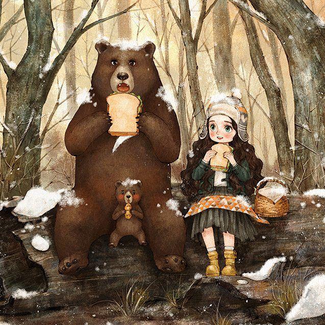 Открытка девушка с медведем, дню победы надписями