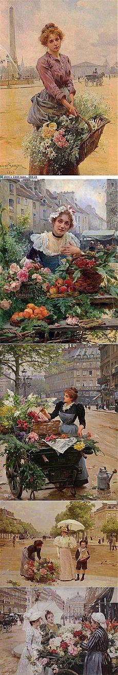 Мои вдохновители - Луи Мария де Шривер и его цветочницы.