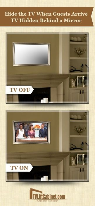 Beautifully framed Mirrors complete with an LED-LCD TV. all in one. A variety of frame styles and size options from traditional to modern. #tvmirror