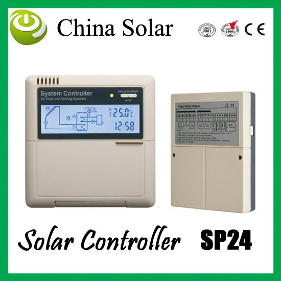 Solar Hot Water Heater controller SP24, controller electric heater and gas boiler as auxiliary heating device these 2 system #Affiliate