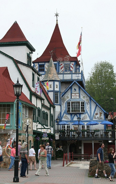 The town of Helen, Georgia converted their town from an asbestos mining town (when that industry dried up) to a recreation of a Bavarian village.