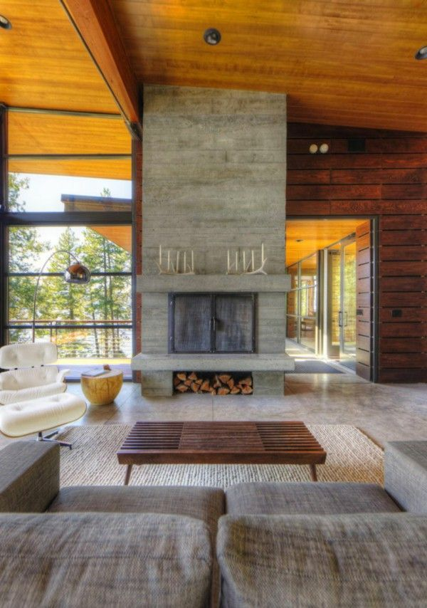An elegant residence overlooking the Lake fireplace sofa couch