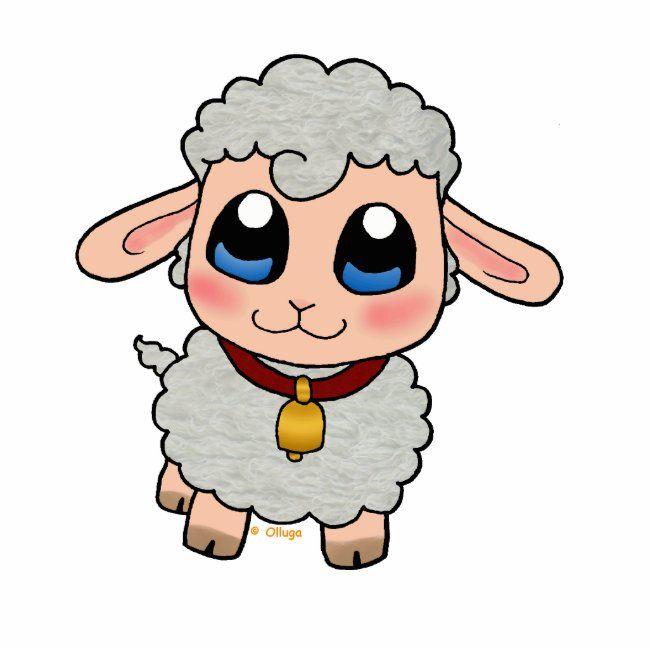 Cute Sheep Photo Sculpture Zazzle Com In 2021 Cute Sheep Baby Animal Drawings Sheep Cartoon