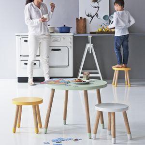 Table ronde en bois pour enfant Flexa Play - Vert menthe