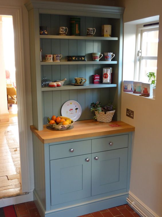 hand painted welsh dresser in bespoke kitchen