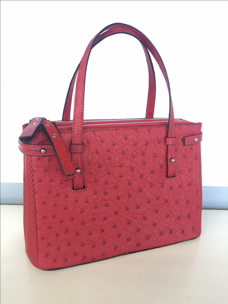 Via Veneta genuine ostrich leather hand bag