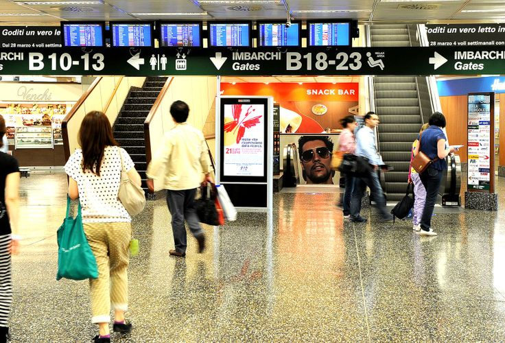 Milan Malpensa Airport, Terminal 2: #DigitalSignage system by #DOOH_IT