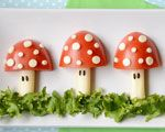 Too-Cute Toadstools I thought it was apples, but it's actually tomatoes! Very healthy either way.