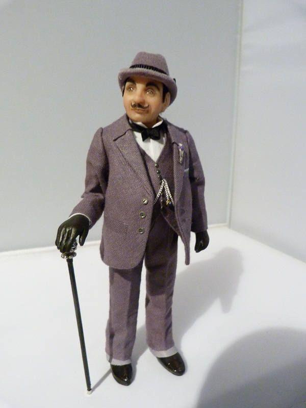 1/12th scale miniature Hercule Poirot by Jo Med - RESERVED FOR RC. by PocketPygmies on Etsy