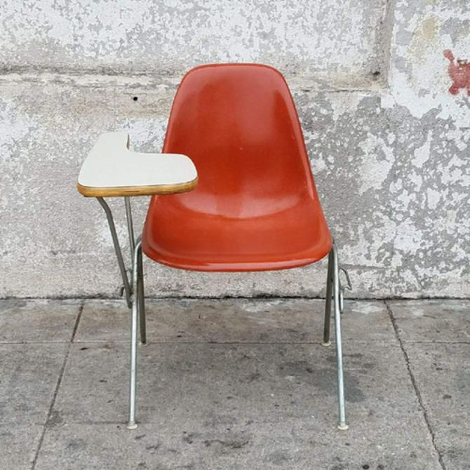 Mid Century Vintage Eames Burnt Orange Desk Vintage Eames Round Back Dining Chairs Grey Desk Chair