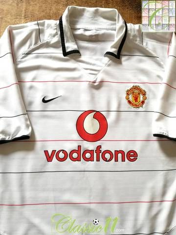 d0a75a6a6 Official Nike Manchester United 3rd kit football shirt from the 2003 04  season.