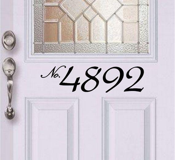 Adresse numéro autocollant de porte d'entrée / adresse décalque / avant autocollant de porte / entrée porte autocollant on Etsy, 9,32$ CAD
