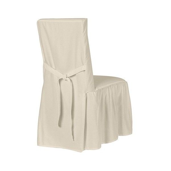 Simply Shabby Chic Cotton Duck Dining Chair Slipcover ...