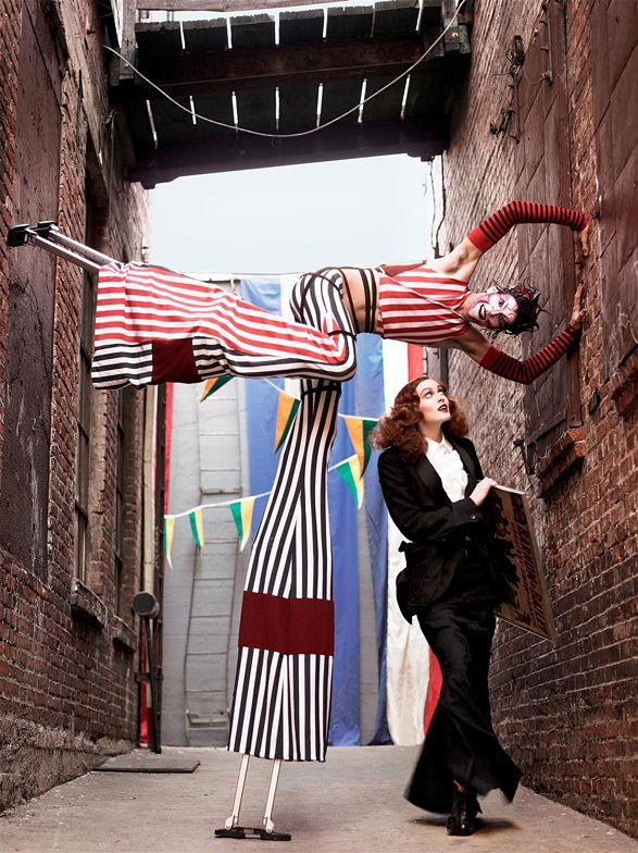 Steven Meisel shoots beautiful model Karen Elson for Vogue Italia, 2007.