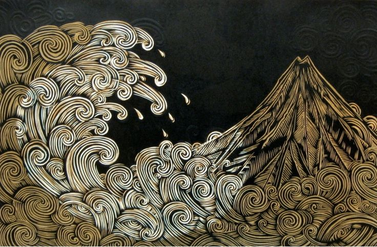 Mount Taranaki View from Whanganui | Solander Works on Paper Art Gallery