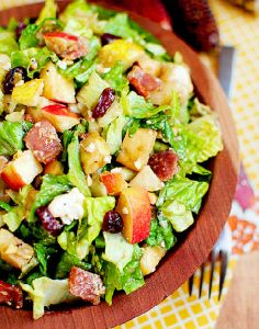 5 fresh and fast chopped salad recipes - We loved the Autumn Chopped Salad on here. And the chicken caesar. Yummy!