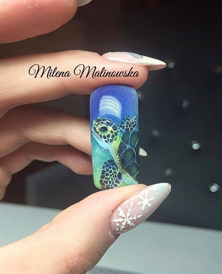 401 best nail art design icon images on pinterest nail designs aquatic turtle which are made in 24 hours from milena malinowski amazing nails prinsesfo Image collections