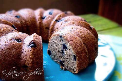Banana blueberry muffin cake - gluten-free and vegan. Smash cake, maybe?